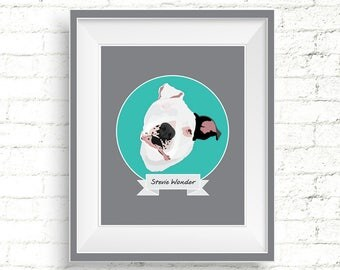 Custom Dog Portrait Personalized Pet Portrait Pet Memorial Illustration Printable Pet Art Print Sympathy Gift Customized Dog Birthday Gift