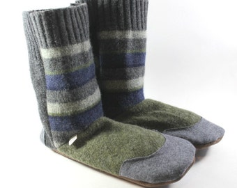 Slipper Boots- Relaxation Gift- College Care Package- Dorm Gifts- Gift for Men- Gift for Wife- Slipper Socks- Wool Slippers- Adult Pajamas
