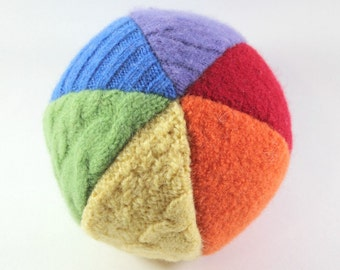 Baby Easter Gift- Easter Basket Stuffer- Toddler Toys- Toddler Easter Gift- Wool Ball- Baby Gifts- Sensory Toy- Rainbow Baby Gift- Natural