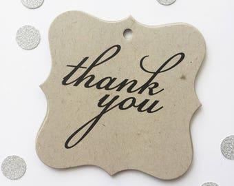 Thank You Wedding Favor Tags, Custom Wedding Tags, Custom Wedding Hang Tags  (FS-146-KR)