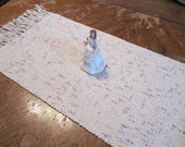 Rustic Hand Woven Table Runner ~ Made of Pure Cotton ~ With Fringe