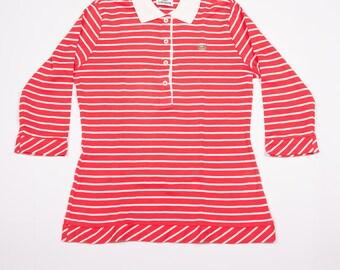 Vintage Lacoste 90s Stripe Polo Shirt
