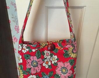 Handmade Cath Kidston bag made in Camden fabric
