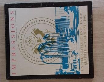 "Vintage Seattle World's Fair Art Prints ""Impressions"" United States Science Exhibit"
