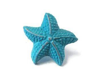 Bouton De Meuble En Toile De Mer Bleu Aqua Par Shabbyanchor