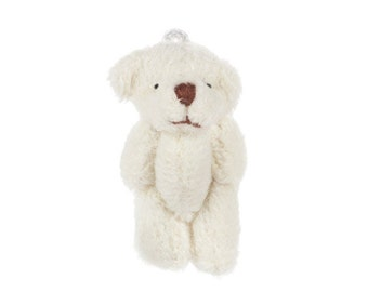 Miniature Plush Bear Toy for 1:12 Scale Dollhouse Miniatures Set of 1 Diorama Shadow Box - 311