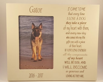 Every Time I Lose a Dog Memorial Frame 4x6