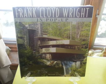 "NOS Roland Lewis""Frank Lloyd Wright In Pop-Up"" Hardcover Mid Century Architectural Book Rare MINT CONDITION"