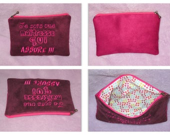 Center zippered gift pouch