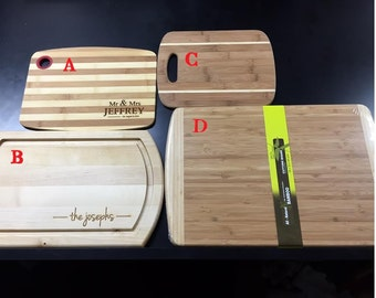 DESIGN a CUTTING board.  Personalized by you!