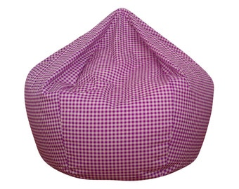 Purple Gingham Bean Bag