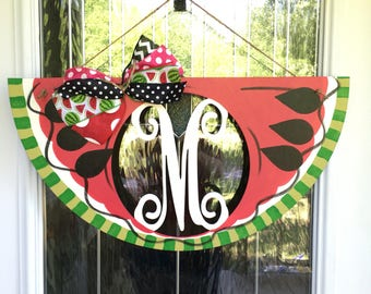 Monogram watermelon door hanger, watermelon door hanger, summer door hanger, monogram door hanger, watermelon door decor, watermelon