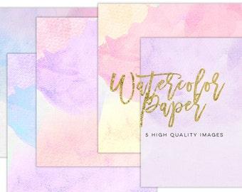Digital scrapbook paper, Watercolor Modern prints, Invitation paper, Sticker paper Commercial use, Lilac Purple Love Valentines Day paper