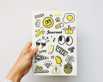 Emoji Monthly Planner Notebook - White
