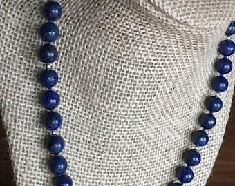 Large Lapis Lazuli Beaded Necklace