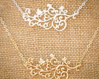 Filigree and Butterfly Necklace