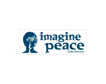 Imagine Peace - John Lennon - Small Bumper Sticker / Decal or Magnet