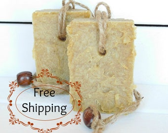 Free Shipping Soap, Bergamot Turmeric Rope Soap, Gifts for Dad, Gifts for Men, Father's Day Gift, Dad Gift, Boyfriend Gift, Soap on a Rope