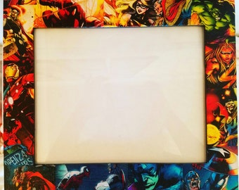 Marvel Comics Picture Frame. Made to Order. Doctor Strange, Ms. Marvel, Spiderman, Hulk, Iron Man, Thor, Captain America. Perfect decor!