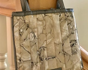 Vintage Sharif Handbag, Americana by Sharif Small Handled Clutch