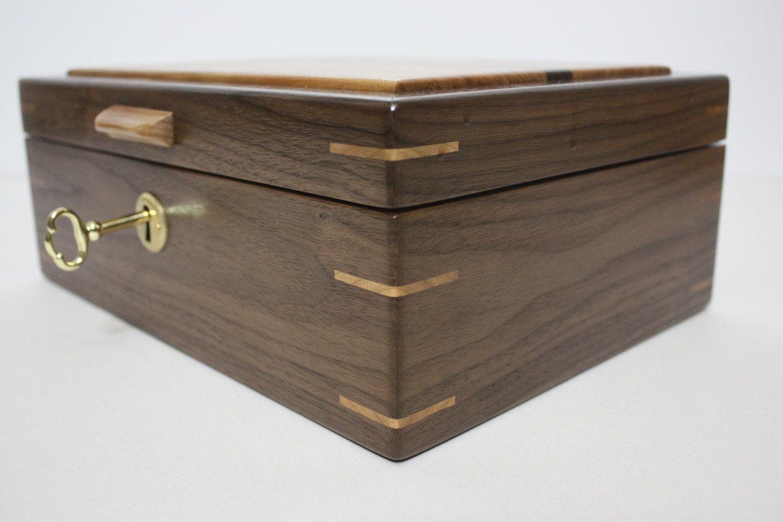 Locking Wood Box