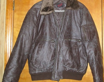 """Vintage Upstream brand """"Racing Division"""" leather motorcycle jacket"""