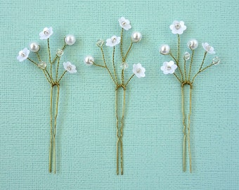 "Pretty beaded bridal hairpins ""Sophie"""