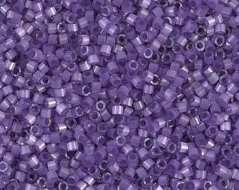 11/0 Dyed Lilac Silk Satin Miyuki Delica-1809, DB1809, Delica 1809, 6 Grams