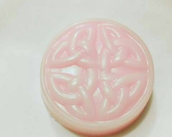 10 You Choose the Scents Mix and Match Handcrafted Massaging Celtic Knot Design 3.5 Ounce Round Soap Bars /10 Wholesale Handmade Soap Bars