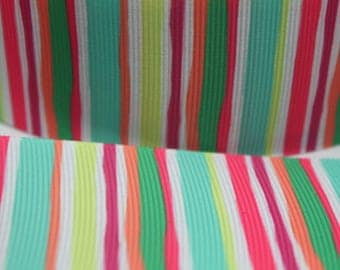 1.5 Inch Stripe Grosgrain Ribbon - Grosgrain Ribbon by the Yard for Hairbows, Scrapbooking, and More!!