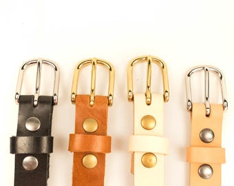 The Skinny Belt, leather belt strap, full grain leather, mens belt, womens belt