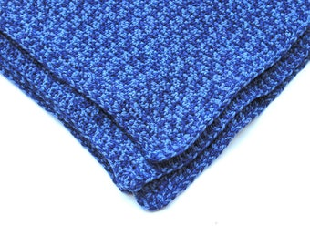 Denim Blue Afghan Baby Blanket