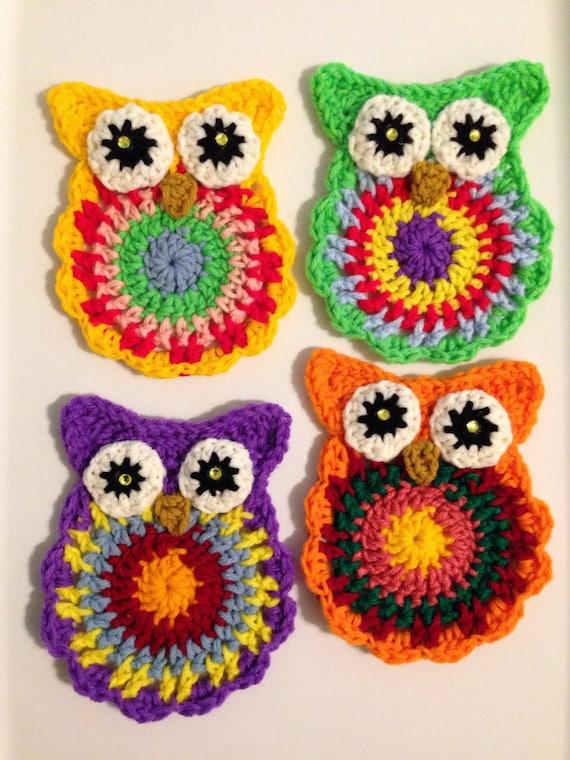 Crochet PATTERN Owl Coasters Owl Crochet Pattern Crochet