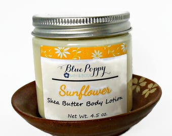 Sunflower Shea Butter Lotion, Body Lotion with Floral Scent, Body Moisturizer, Body Cream