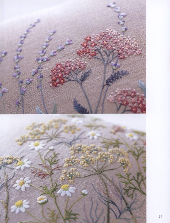 Embroidery Patterns - Botanical - Herb Embroidery - Japanese Embroidery Book - Ebook - PDF ...