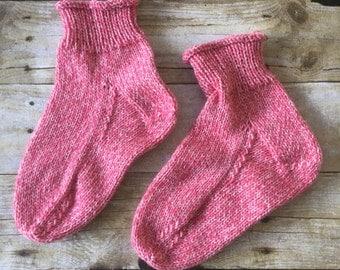 HANDMADE Bed Booties. Weekend Socks. Women's Socks. Size 8. Size 9. Wool socks.