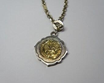 Gold Fiorino keychain