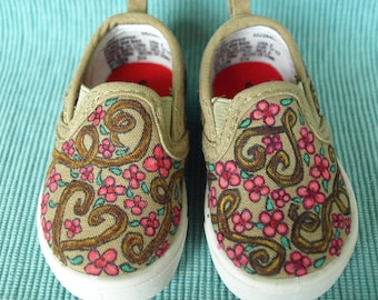 Cherry Blossom Flowers Girls Toddler Shoes