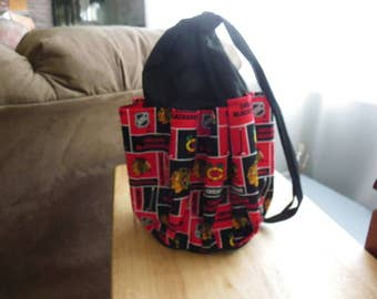 Red Bingo Bag,Black Bingo Bag, Hockey Bingo Bag,Hockey Fan Bingo Bag, 10 Pocket Bingo Bag,NHL Bingo Bag