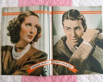 Fabulous vintage 40s magazine~June 8th 1940 PICTUREGOER Incorporating Film Weekly~War time glamour~Lovely old adverts & images