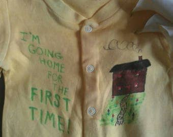 Going home for the first time suit/babygrow
