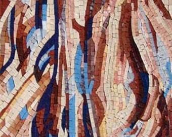 Handmade Expressionism Mosaic Artwork