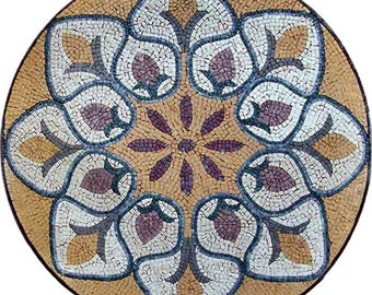 Mosaic Medallion - Lily of the nile