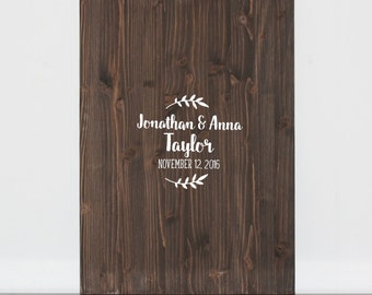 Wood Wedding Signature Guestbook, Unique Guestbook, Custom Wood Sign, Custom Wedding Guestbook Alternative, Wood Boho Guestbook