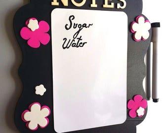 Magnetic whiteboard for the fridge