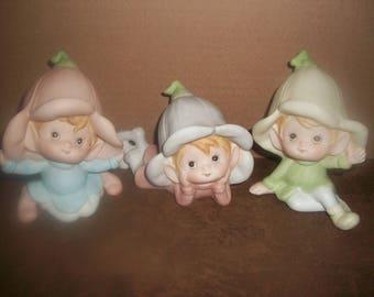 Homco Pixie Figurines # 5615