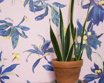 Loquat Love REMOVABLE Fabric Wallpaper Tile