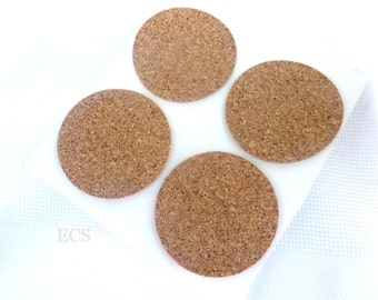 """Cork Disc 2"""" Diameter Pack of 20 Great for crafts, coaster bottoms, cupboard door and drawer bumpers, lamp bases and much more"""