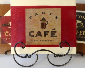 Coffee Art - Made with Upcycled Drywall