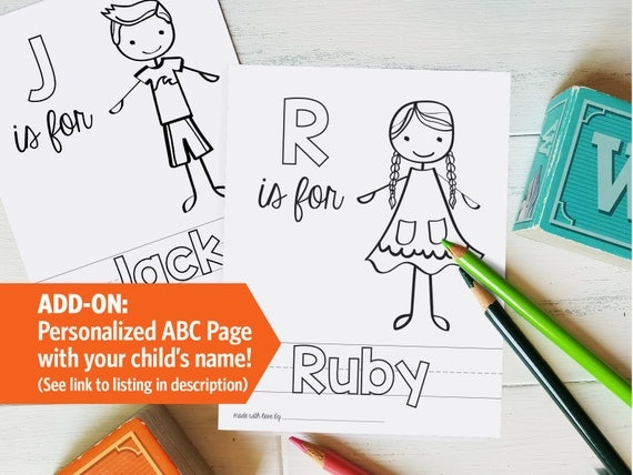 Printable ABC Coloring Book Shower Game Alphabet Baby Book